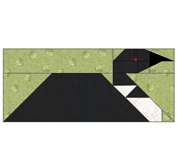 Loon Quilt Block Pattern PDF Instant Download modern : loon quilt pattern - Adamdwight.com