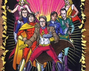 Big Bang Theory Fleece Tie Blanket