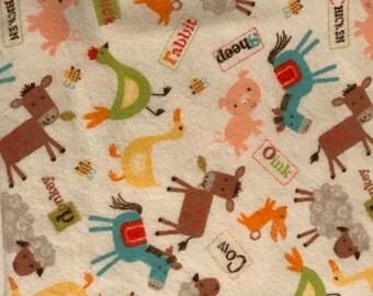 XL Receiving Blanket- Farm Animals