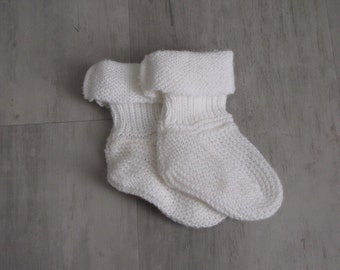 Vintage White Baby Booties