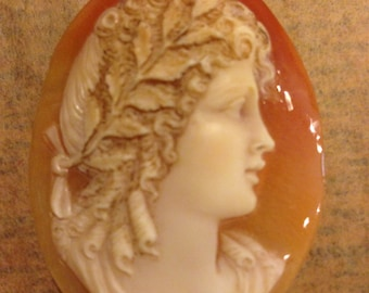 Gorgeous Hand Carved Italian Shell Classic Cameo