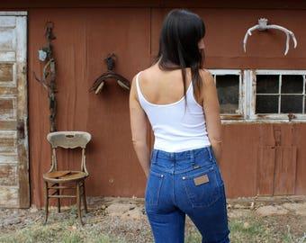 Vintage WRANGLER jeans//high waisted jeans//denim Wranglers