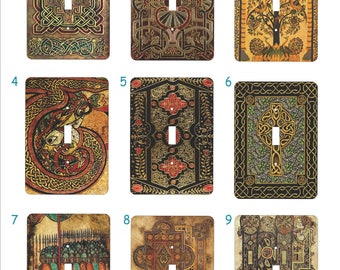Metal Celtic Light Switch Cover Series One - Celtic Art - Single Toggle - Celtic Toggle Cover - 1T Single Toggle