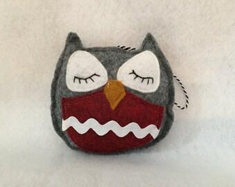 Sleeping OWL ornie ornament bowl filler