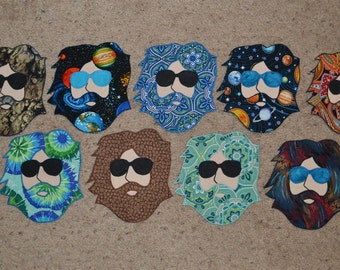 Jerry Garcia face patches