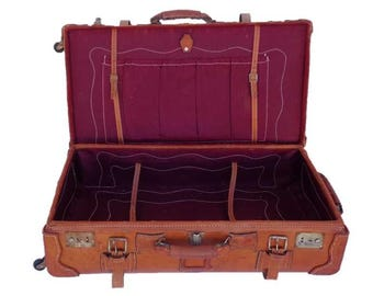 Vintage Suitcase Trunk in Leather