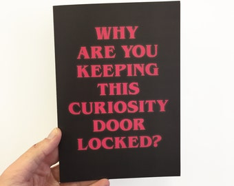 Stranger Things inspired Card! Why are you keeping this curiosity door locked?
