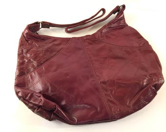 Burgundy hobo bag | Etsy