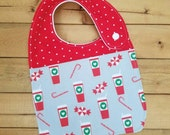 SALE: Infant Drool Bib- Peppermint Mocha/ Hot Chocolate
