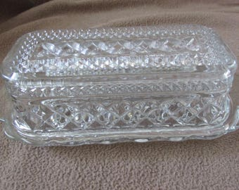Glass Butter Dish w/Lid
