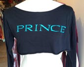 Vintage '80s Prince Lovesexy Tour Cropped Long Sleeved T-Shirt Size M