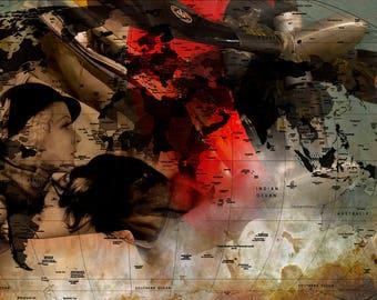 Freedom Plane, Plane, Red, Bronze, White, History Airplane, WW2, War Heros, Liberty, USA,Airmen, Aircraft, Print, Photography, courage,pilot