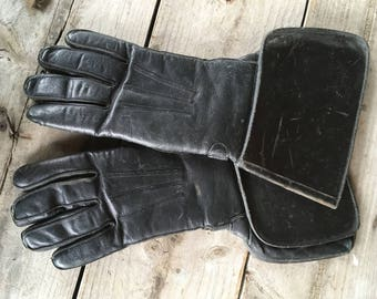 Stetson Leather Gauntlets - 1930's Leather Motorcycle Gloves - Medieval Knight Armor - Batman Gloves - Star Wars Gloves - Rapier Clothing