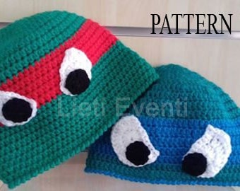 Pattern crochet NINJA TURTLE hat