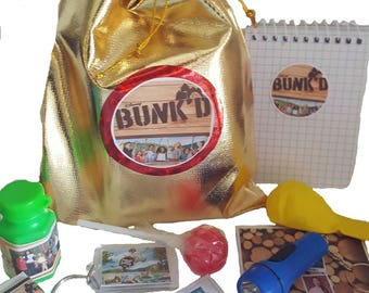 Bunkd party bags loot bags with 9 items inside