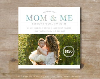 Mini Session Template, Mom and Me Mini marketing template, mommy and me mini session template, mothers day template - mini sessions