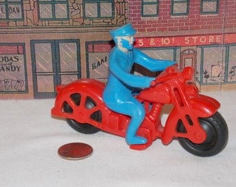 Antique Hubley Toy Policeman on Motorcycle