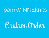 Custom Order reserved for Kerry -- Hand Knit Adult Slouchy Hat in Custom Color Way