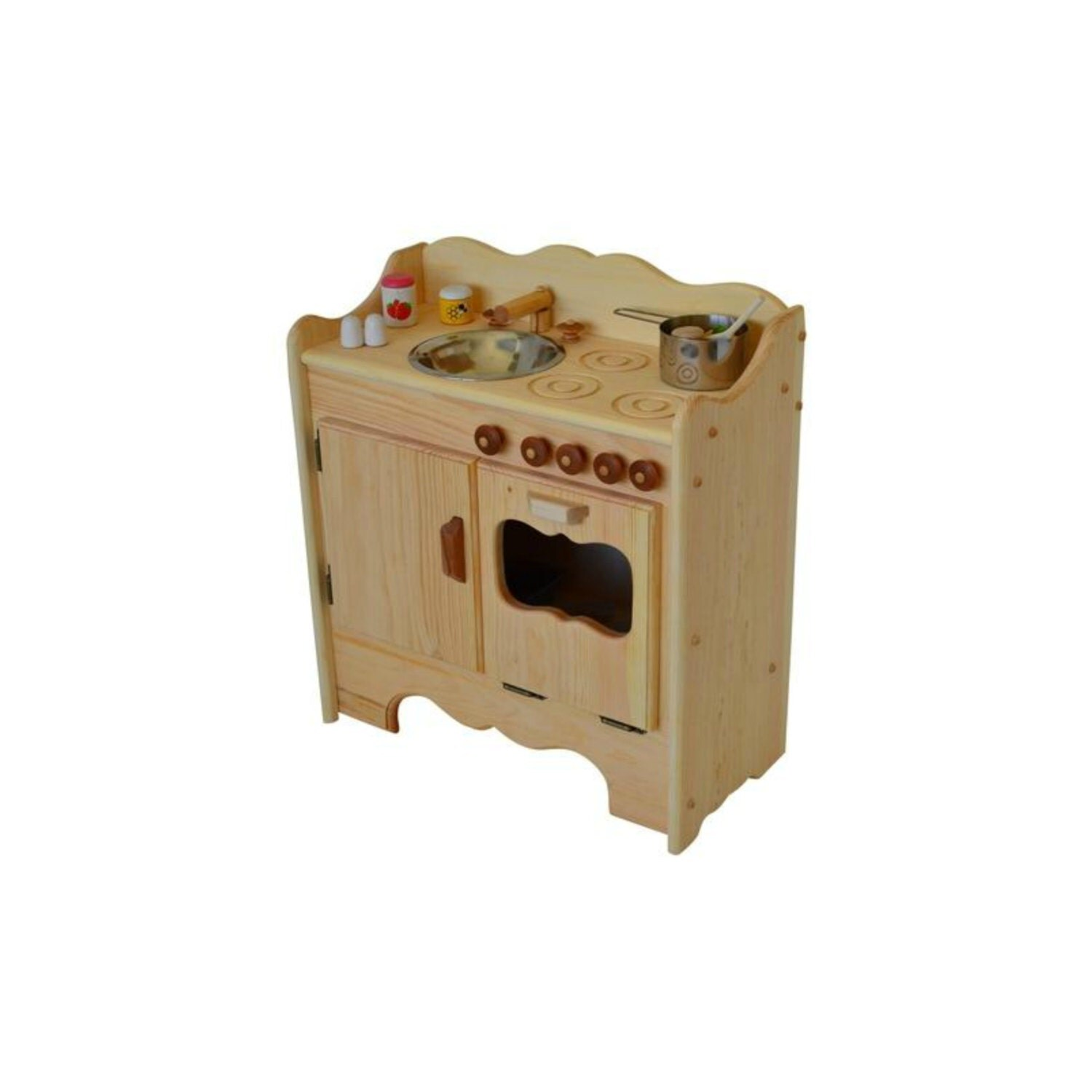 Natural Wooden Play Kitchen Wooden Toy Kitchen Waldorf