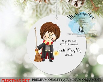Christmas Ornament for Boy, Harry Potter Ornament, 1st Christmas Ornament, Personalized Ornament for Christmas Gift, Christmas Decor