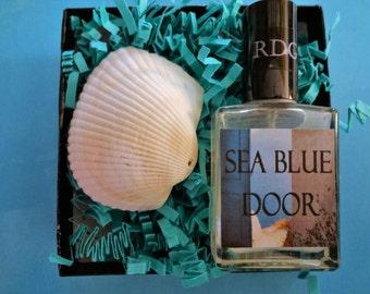 Sea Blue Door Perfume Mist Gift Box - Perfume Gift For Her, Ocean Perfume, Sea Perfume, Spa Perfume Gift For Women, Perfume Gift Set
