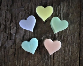 10 Organic Shea Butter Heart One Use Soap Favor Bags Wedding, Birthday, Baby Shower