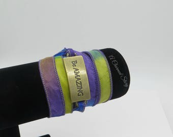 Be Amazing - Silk Wrap Bracelet