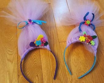 Troll hair headband. Trolls. Party favors. Troll party. Trolls headband. Troll gift. Troll accessories. Troll birthday party. Headbands.