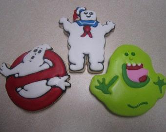 1 Dozen Ghostbusters Fan Art Hand Decorated Cookies