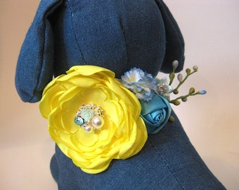 "Flower Dog collar | The ""Sunnydell"" 