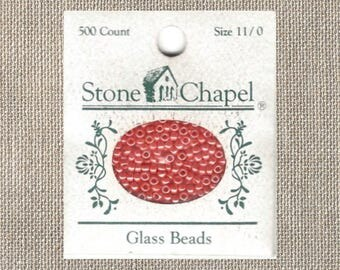 Stone Chapel - Glass Seed Beads - Tangerine 423 - 11/0 - 500 Count - By the Package