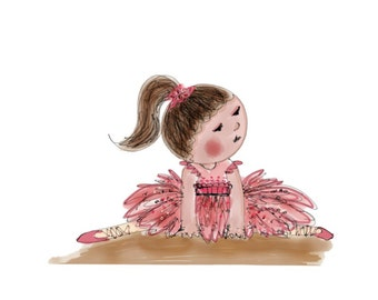 Wall Art - Nursery Art - Children Art - Pink Tutu