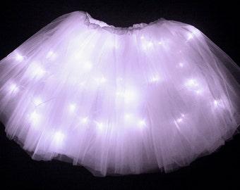 Adult Lavender LED Light up Tutu Skirt fits Women XS to XL