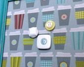 Babillard aimanté recouvert tissu de tasses à café cuisine organisation mémo photos décor mural tableau d'affichage à aimants chambre fille