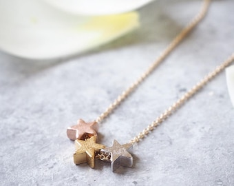 Wish Necklace, Star Necklace, Star Necklace Gold, Gold Star Necklace, Charm Necklace, Star Charm Necklace, Gold Star Charm Necklace, Star
