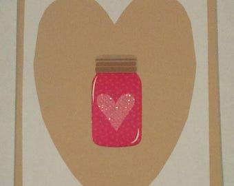Handmade love card, anniversary card, valentine card