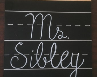 Custom Painted Clipboard with Chalkboard Paint