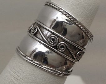 Sterling silver pinky ring