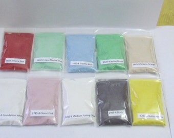 Enamel Packet  - 1 oz  -Enameling Supplies - Kiln use - Thompson enamel - you choose color - fire torching supplies - torch fire enamel