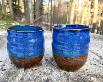 Cobalt Blue Ceramic Tumbler