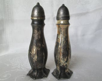 Vintage Nasco Silverplate Salt and Pepper Shakers