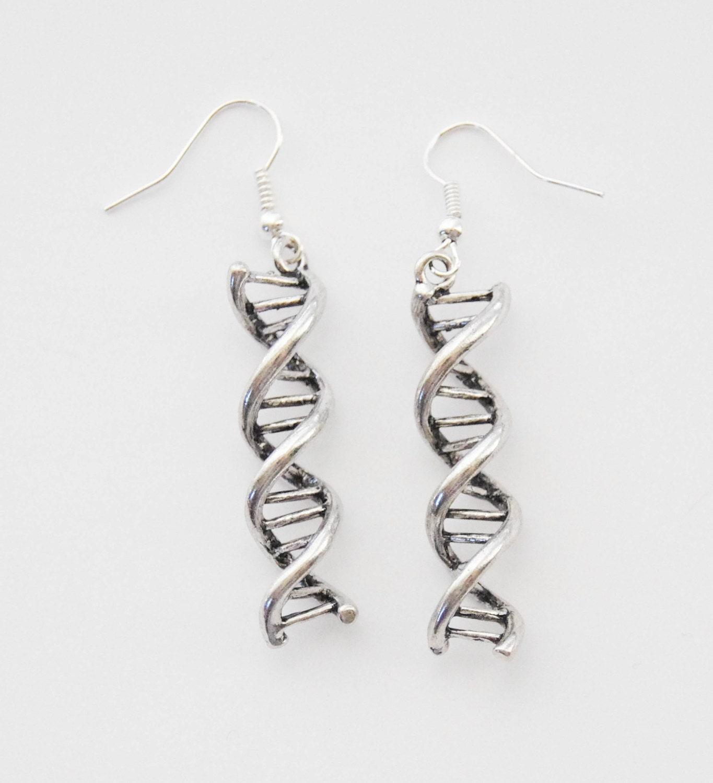 dna earrings helix earrings dna jewelry helix
