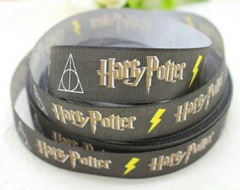 Harry Potter Wizard, magic, Slytherin Grosgrain ribbon