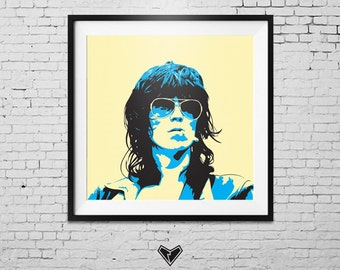 Keith Richards Portrait Print