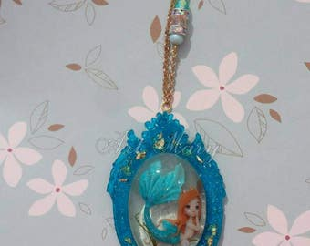 Necklace Mermaid in fimo, polymer clay
