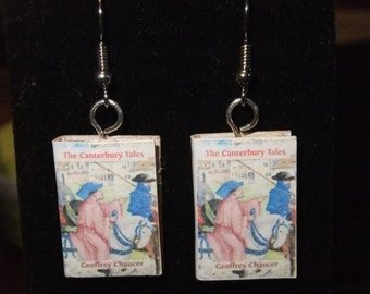 The Canterbury Tales Book Earrings - Great Gift for Book Lovers!
