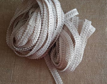 10 yds cream GIMP trimming 1/2 in wide embellishment craft sewing supplies