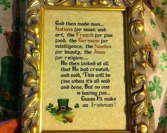 God created the Irish frame