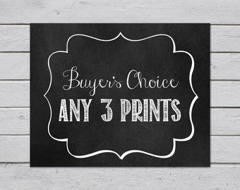 Any 3 Prints / Buyer's Choice / Wall Art Prints / Typography / Home Decor / Wall Decor / Custom / Personalized / Multiple Print Discount