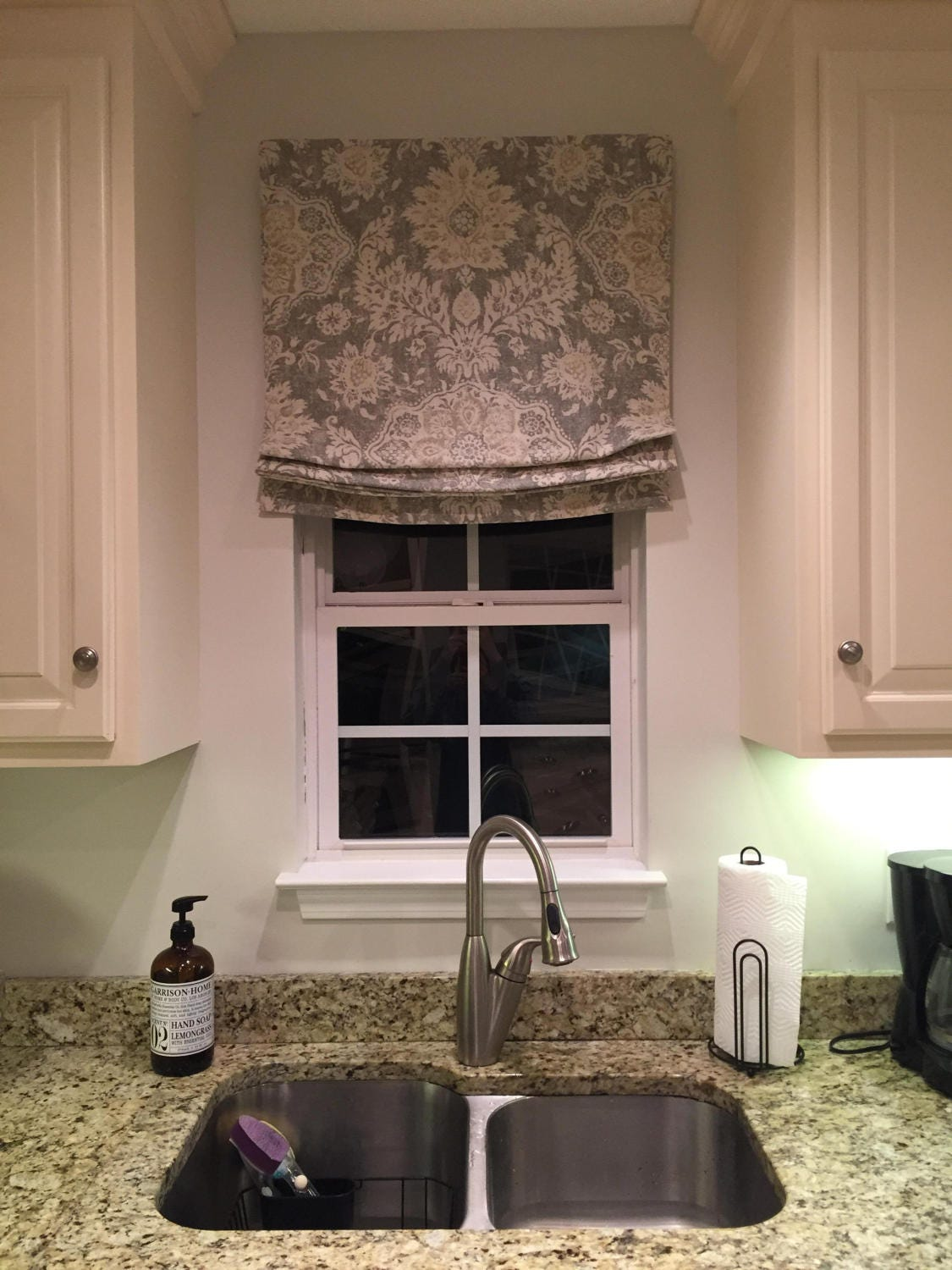 custom childsafe relaxed roman shades in magnolia homes belmont mist traversing clutch customize inside or out flat or relaxed